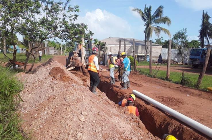Construcción de sistema de alcantarillado en Bilwi