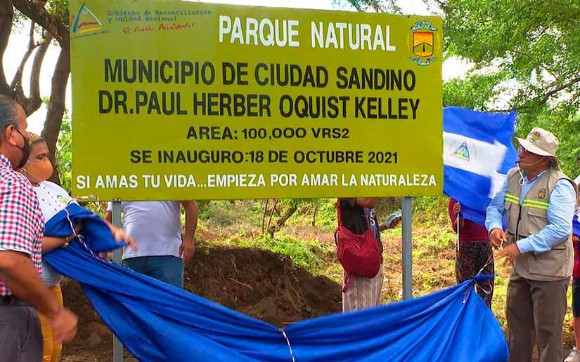 Gobierno sandinista inaugura parque natural en Ciudad Sandino